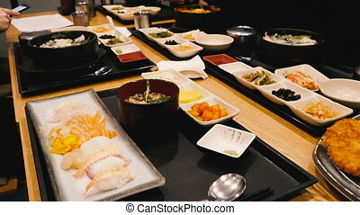 nourriture, coréen, corée sud, nourriture.