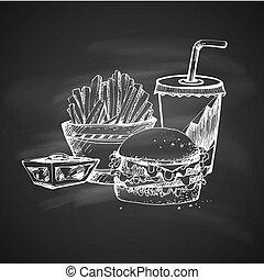 nourriture, croquis