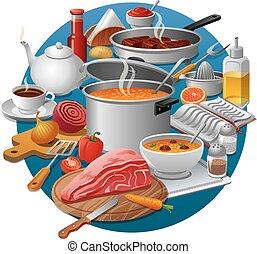 nourriture, cuisine