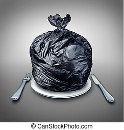 nourriture, déchets