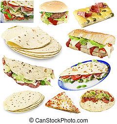 nourriture, déjeuner, concept, jeûne