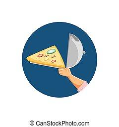 nourriture, délicieux, jeûne, pizza