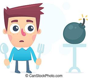 nourriture, dangereux, santé
