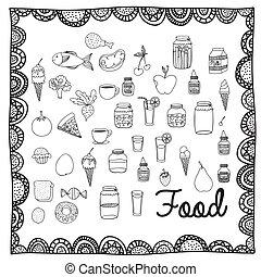 nourriture, dessin