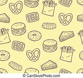 nourriture, encas, fond