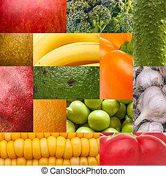 nourriture, ensemble, naturel, texture