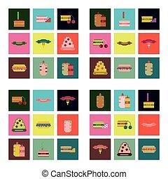 Meals Encas Icônes Nourriture Collection Ensemble