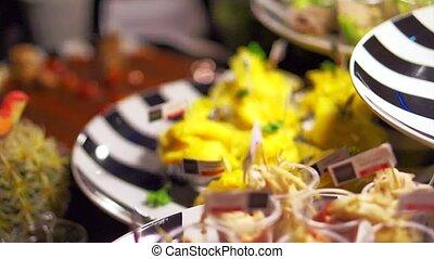 nourriture, fête, cocktail