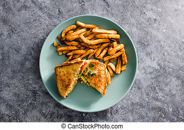 nourriture, frire, vegan, sandwichs, avocat, dairy-free, francais, plant-based, fromage, tomate