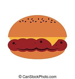 nourriture, fromage, hamburger, jeûne