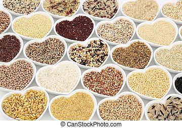 nourriture, grain, santé