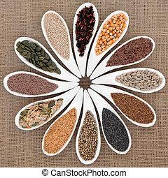 nourriture, graine, échantillonneur