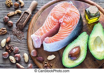 nourriture, graisses, omega-3