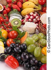 nourriture, grand plan, composition
