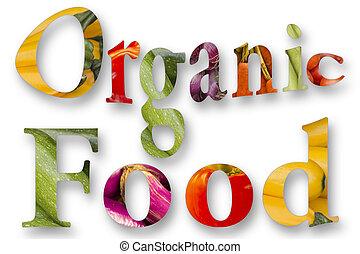 nourriture, graphique, organique
