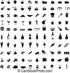 nourriture, icônes
