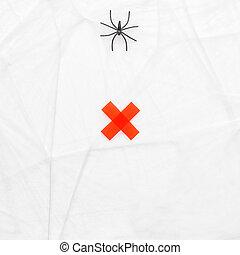 nourriture, image conceptuelle, araignés, attente