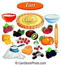 nourriture, ingrédient, épice, flan