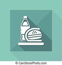 nourriture, isolé, illustration, unique, vecteur, jeûne, icône
