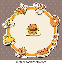 nourriture, jeûne, carte, restaurant