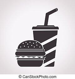 nourriture, jeûne, icône