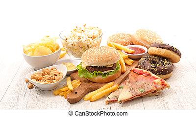 nourriture, jonque, assorti