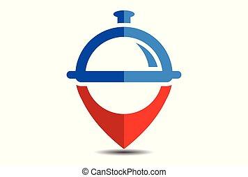 nourriture, logo, emplacement, restaurant