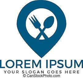 nourriture, logo, point, design.