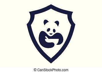 nourriture, logo, résumé, panda, icône