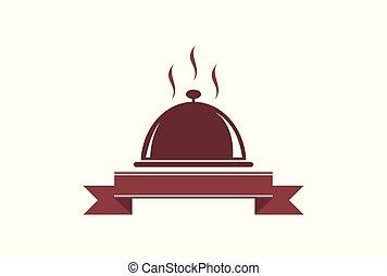 nourriture, logo, restaurant, icône, cuisine