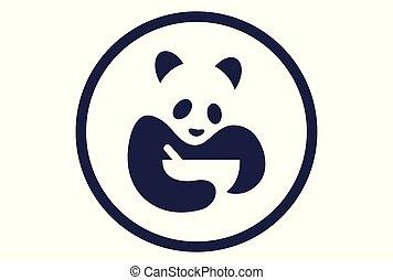 nourriture, logo, vecteur, panda