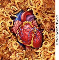 nourriture, maladie coeur