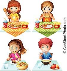 nourriture mangeant