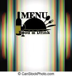 nourriture, menu, boisson, restaurant
