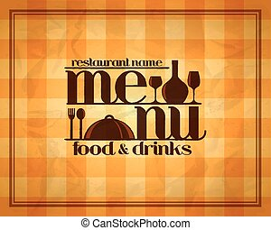 nourriture, menu, boissons, restaurant