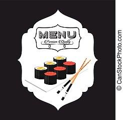 nourriture, menu, japonaise