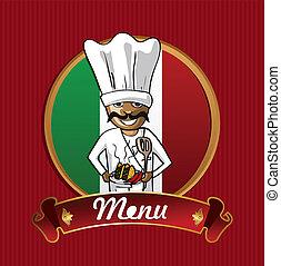 nourriture, menu, poster., mexique