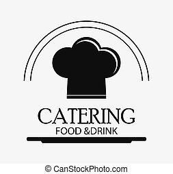 nourriture, menu, restauration, service, icône