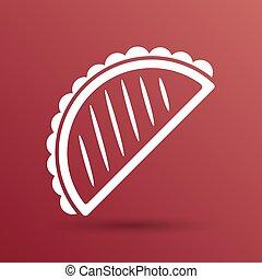 nourriture mexicaine, jeûne, tacos, vecteur, conception, logo, template., icône