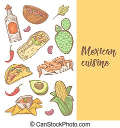 Cuisine restaurant vecteur mexicain menu mexicain clip art vectoriel rechercher des - Cuisine mexicaine traditionnelle ...