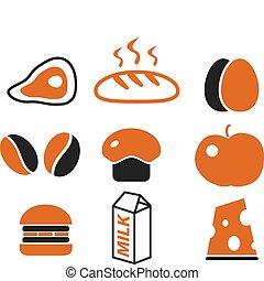 nourriture, mignon, signes