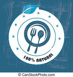 nourriture, naturel, étiquette