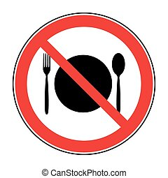 nourriture, non, signe