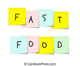 nourriture, notes, jeûne, collant