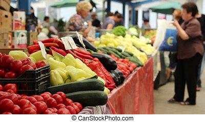 nourriture, organique, achat