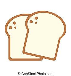 nourriture, pain, blé, dessin animé, tranches