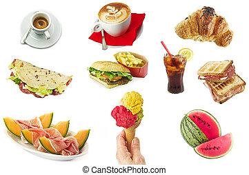 nourriture, petit déjeuner, concept, jeûne