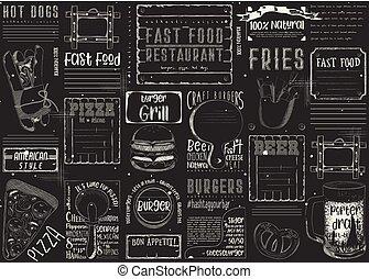nourriture, placemat, jeûne, restaurant