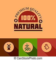 nourriture, plat, naturel, icônes