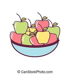 nourriture, pommes fraîches, tural